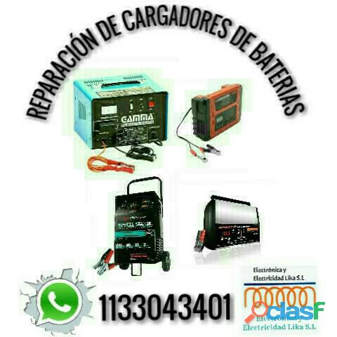 Reparación de cargadores de baterías.