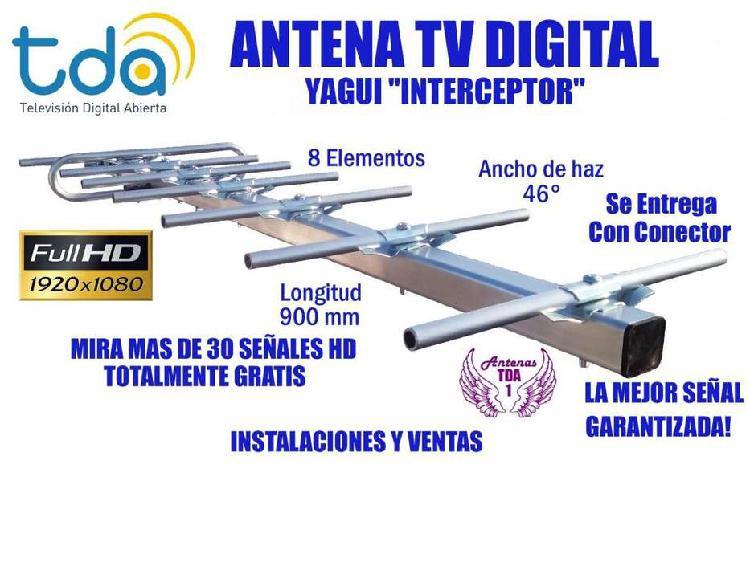 Antena tv digital, tda autentica yagui 8 elementos. mas de