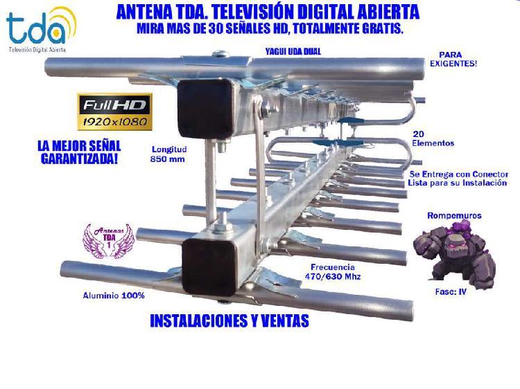 Antena tv digital, yagui dual 20 elementos ,gran alcance!!