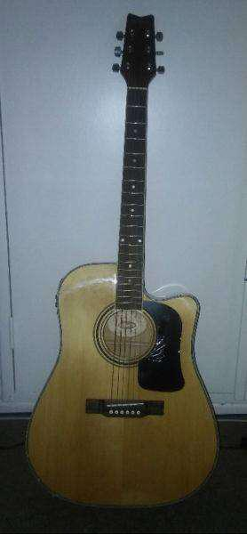 Guitarra electroacústica washburn usada