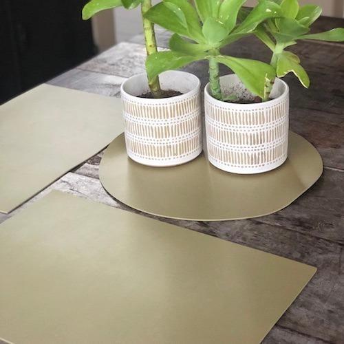 Individual de mesa liso rectangular impermeable lavable pvc