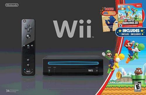 Nintendo wii black mario bros zona norte impecable completa