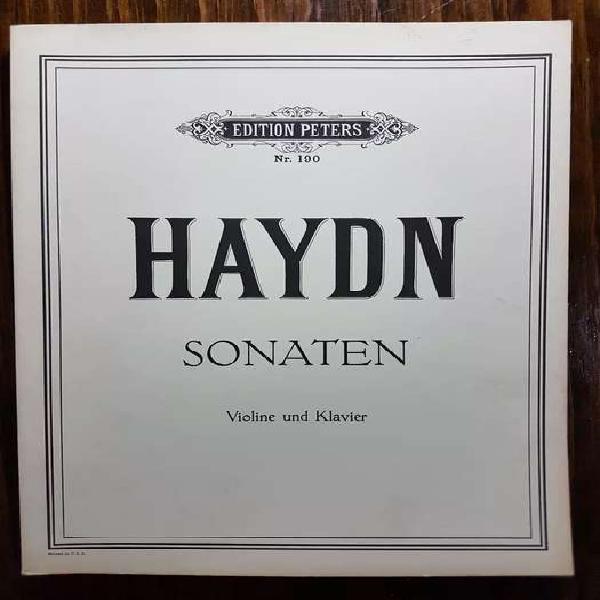 Partituras de música de cámara: haydn - 8 sonatas para