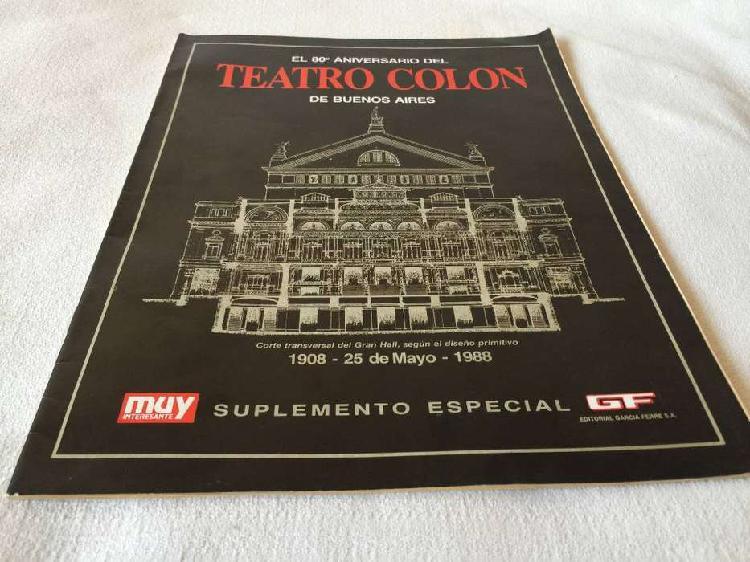 80 aniversario teatro colon edición especial muy