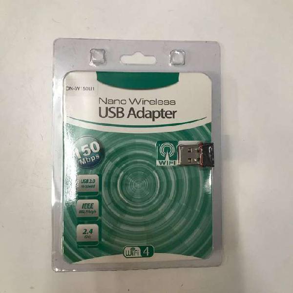 Adaptador usb placa wifi nano mini antena 150mbps 2.4ghz