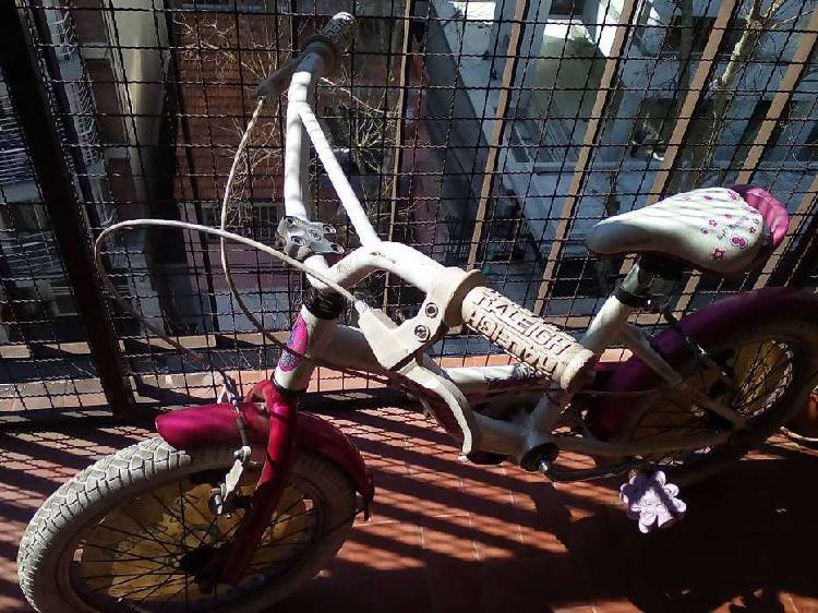 Bicicleta raleigh color rosa rodado 16