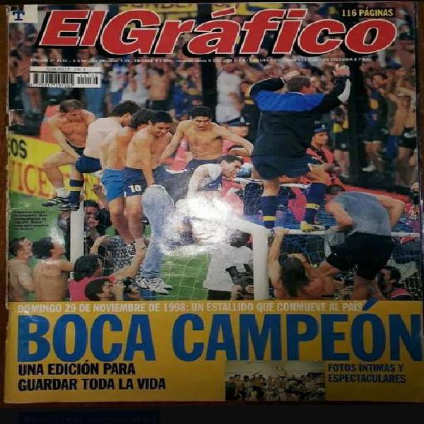 Boca campeón - revista el gráfico 1998