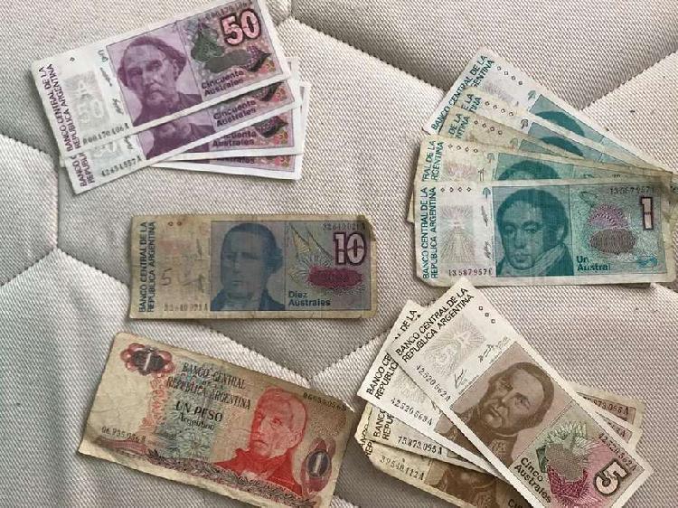 Lote de billetes australes