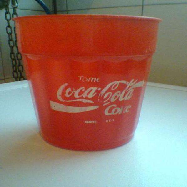Vaso plástico coca cola años 80-vintage-de colecciòn!!!
