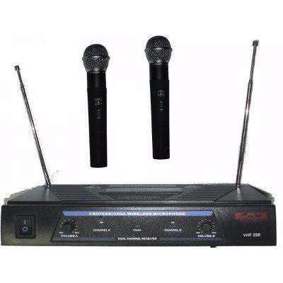Micrófono inalámbrico doble mano vhf pro 258 oferta!!!