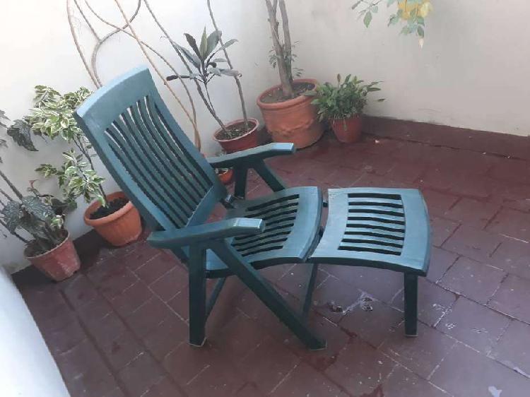 Reposera plástica exterior nardi garden plegable 4