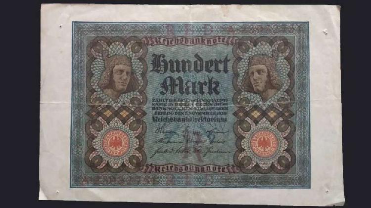 Billete alemania 100 francos 1920