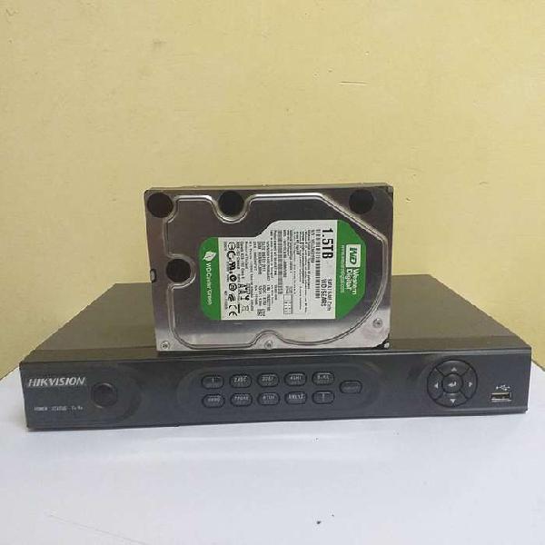 Dvr hikvision hdmi 4ch disco rigido 1.5 western z/unicenter