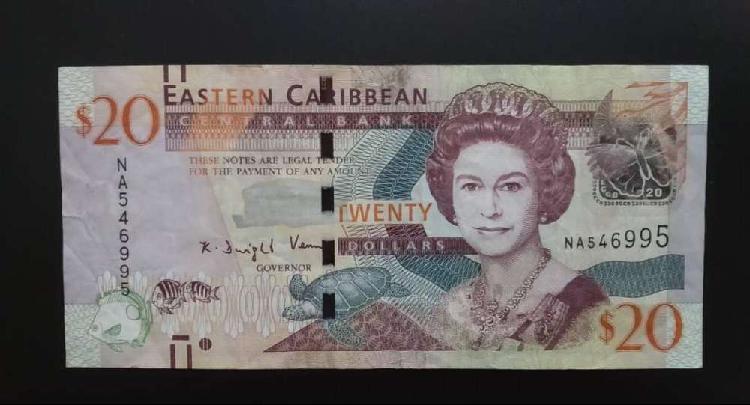 Lote billetes caribe del este dolar, oferta!