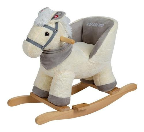 Mecedor de peluche carestino caballo blanco