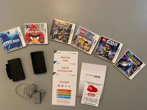 Nintendo 3ds negra + 6 juegos en perfecto estado