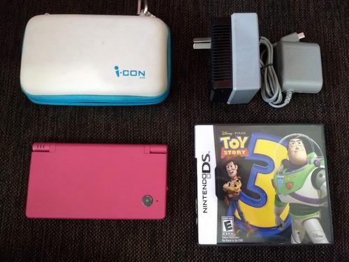Nintendo dsi rosa + juego toy story 3 + cargador + estuche