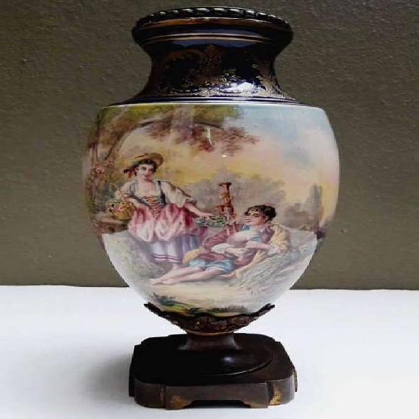 Potiche antiguo porcelana francesa circa 1900