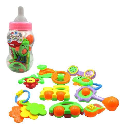 Set super mamadera gigante con sonajeros 10 piezas para bebe