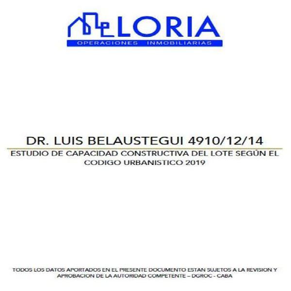 Belaustegui, luis dr. 4900 - lote en venta en velez