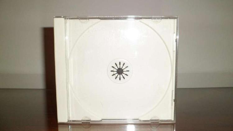 Cajas acrílicas para cd tray blanco