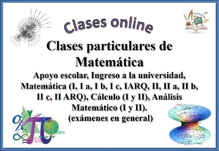 Clases online de matemática (todos los niveles)