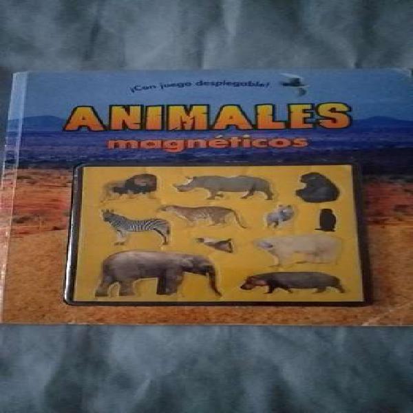 Libro con animales imantados