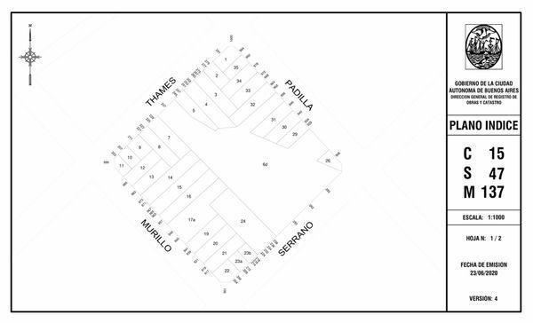 Padilla 940 - lote en venta en villa crespo, capital federal