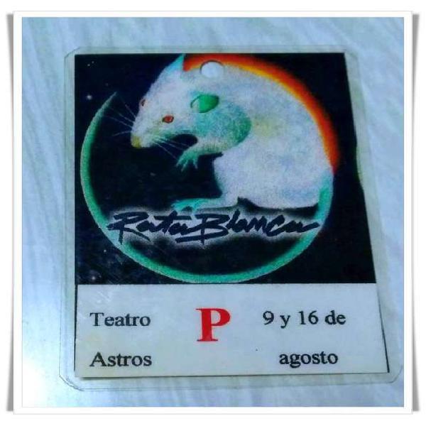 Rata blanca credencial de prensa show teatro astros - única