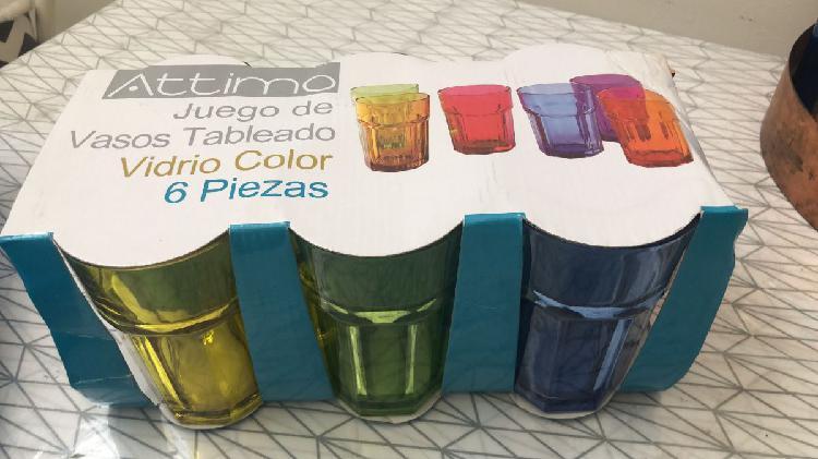 Vasos x6 varios colores