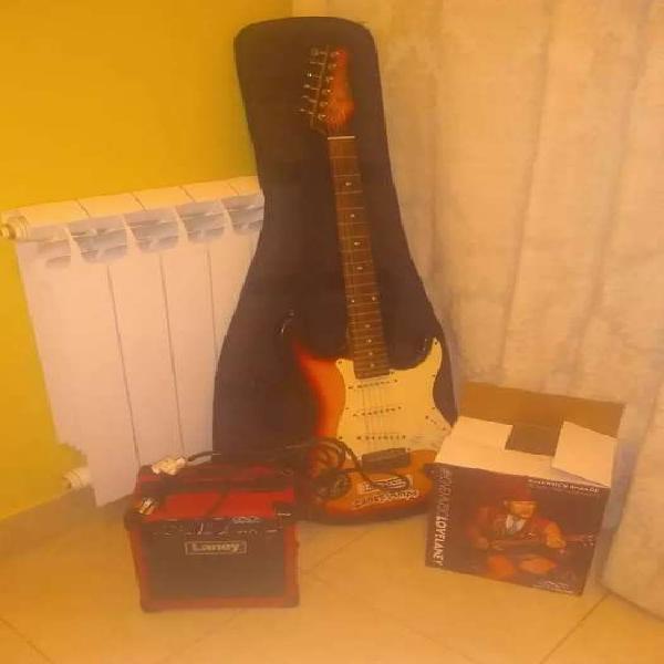 Vendo guitarra electrica con amplificador laney