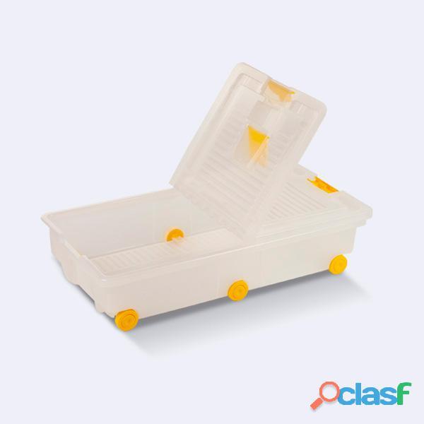 Caja organizador plastico ruedas cama herramientas 30 litros