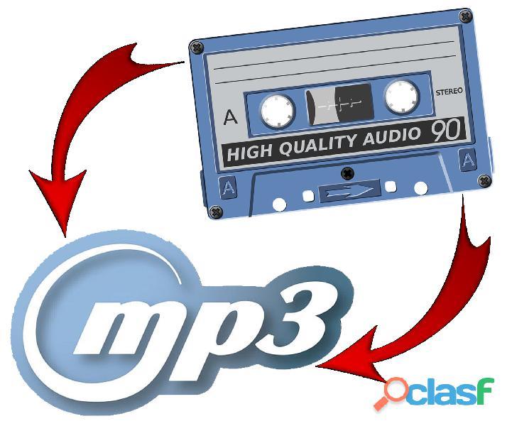 Cassettes de audio a pendrive