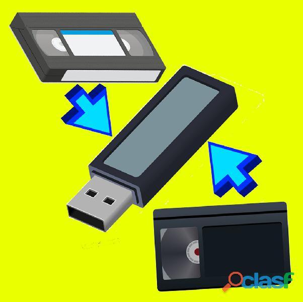Videocassettes a pendrive