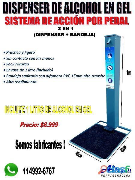 Dispenser sanitizador de manos a pedal 1