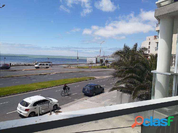 Departamento 3 ambientes con vista plena al mar y cochera en venta en mar del plata