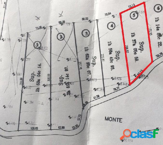 Único lote en Chacras Laguna del Rosario 1