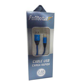 Cable Usb C Carga Rápida Full Total Longitud 1 Metro -