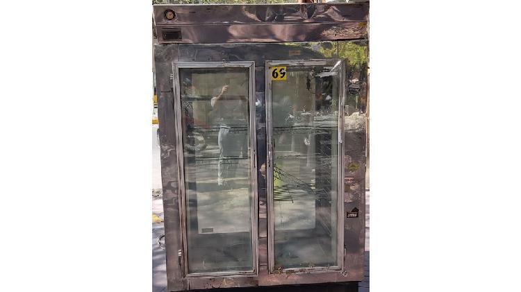Heladera 2 puertas acero inoxidable
