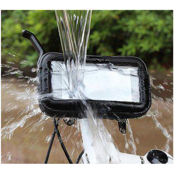 Soporte funda porta celular gps impermeable moto bicicleta l