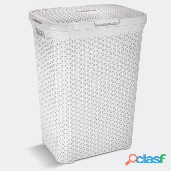 Canasto cesto para ropa sucia baño plastico ratan grande