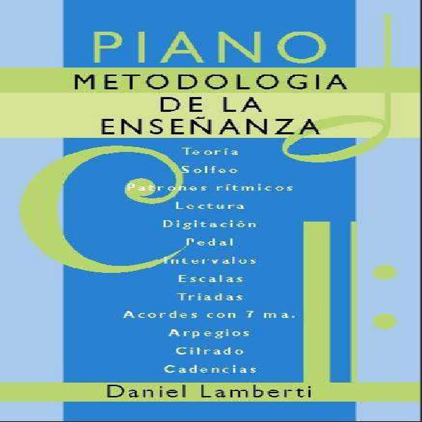 Libro de piano para alumnos principiantes, intermedios y