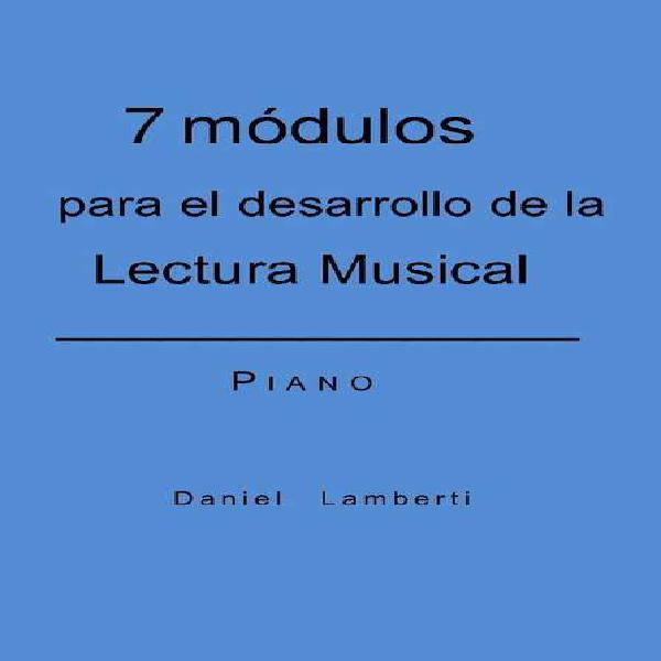 Libro para desarrollar la lectura musical en el piano, nivel