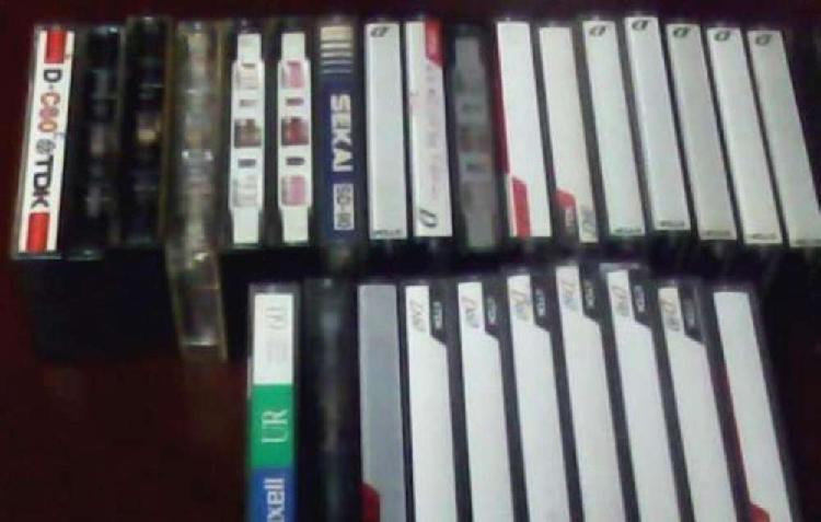 Lote de 223 cassettes vírgenes usados