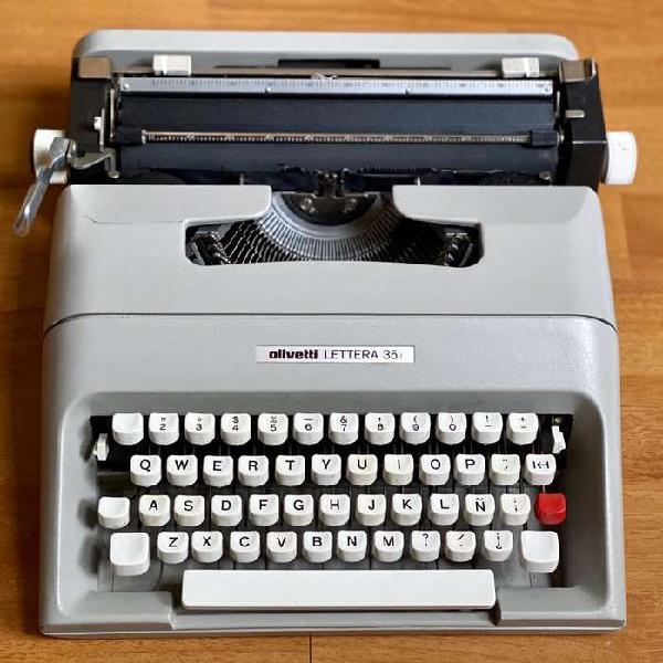 Máquina de escribir olivetti lettera 35 l - impecable con