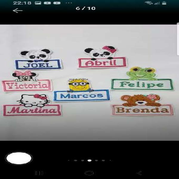 Nombres bordados