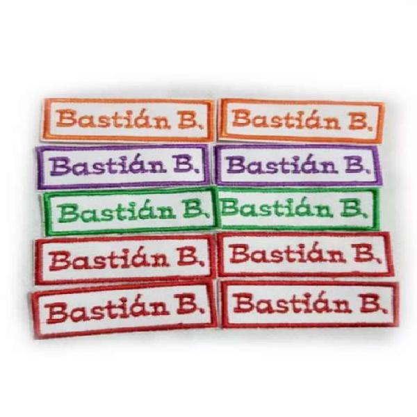 Nombres bordados para jardín escuela