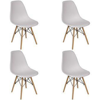 Set x4 sillas eames asiento pvc varios colores patas de