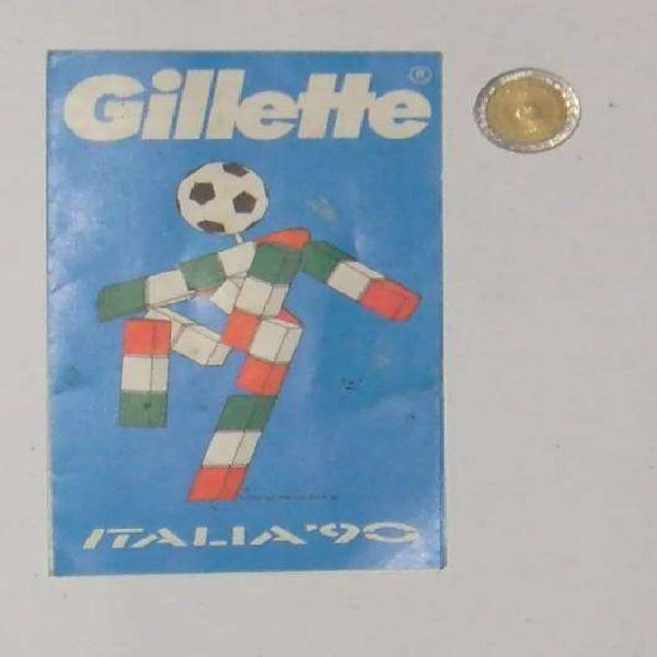 Antiguo fixture mundial 1990 futbol italia 90 gillette
