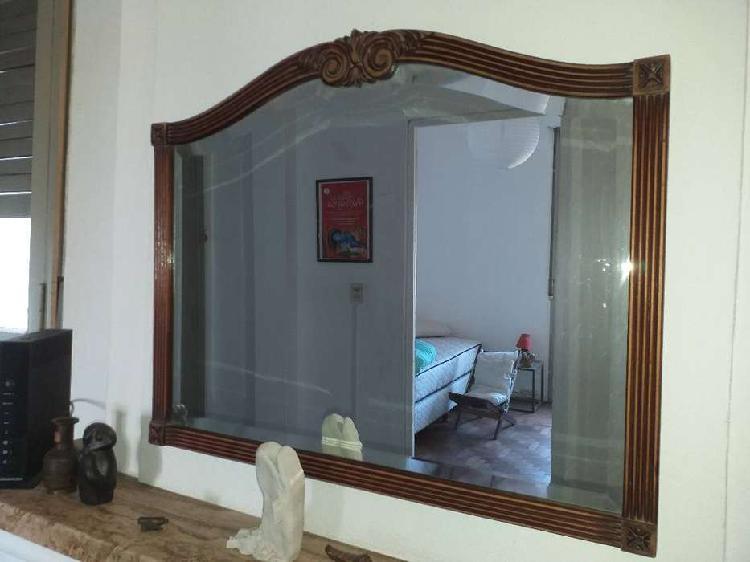 Antiguo espejo biselado estilo provenzal 70 x 50 cm
